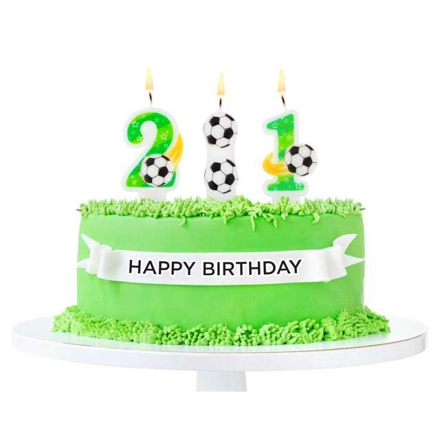Świeczka na tort Piłka Nożna - Dwukropek Godan