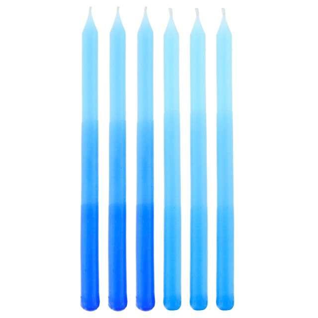 """Świeczki na tort """"Cieniowane"""", Godan, niebieskie, 6 szt."""