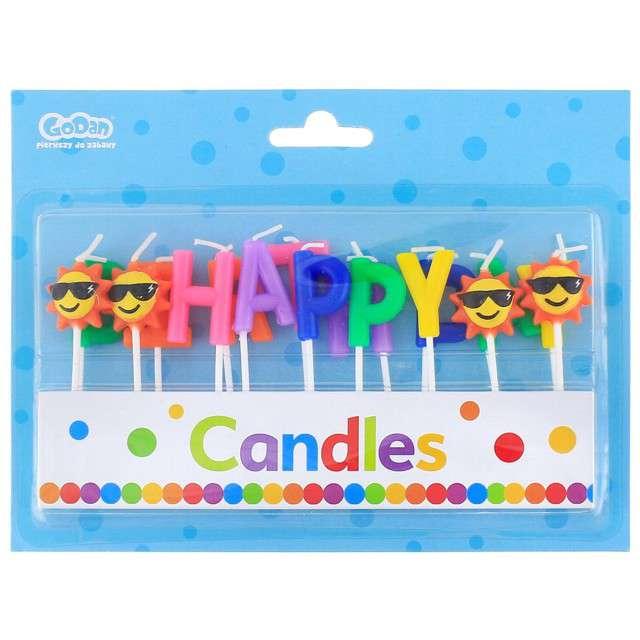 Świeczki na tort Happy Birthday Godan mix