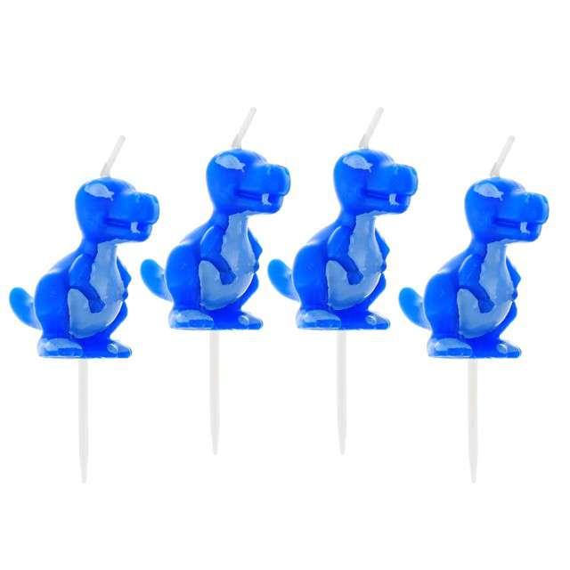 Świeczki na tort Dinozaur Godan niebieska
