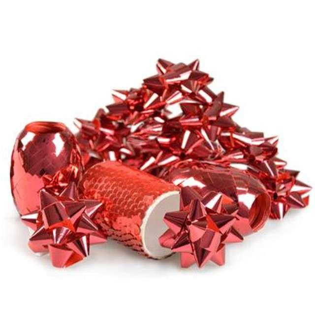 """Zestaw do dekoracji prezentów """"Classic"""", czerwony, Arpex"""