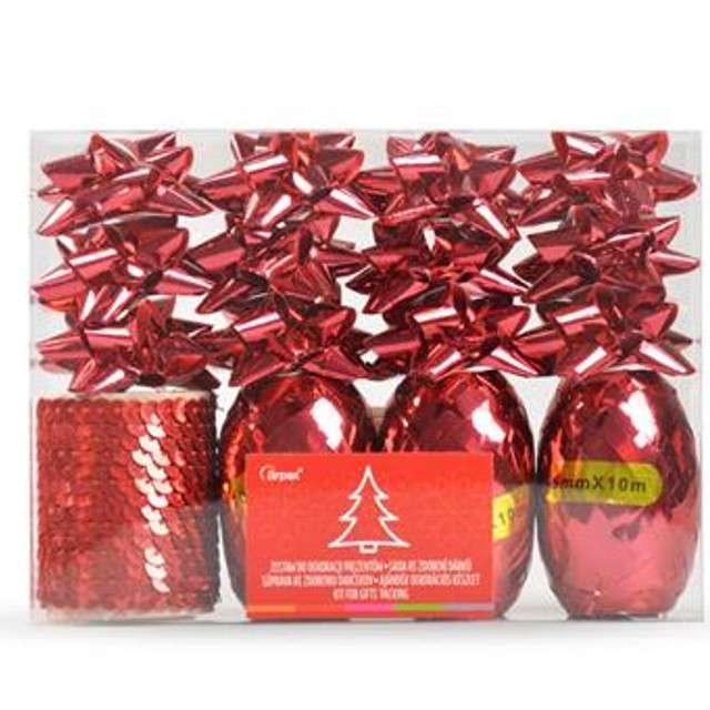 Zestaw do dekoracji prezentów Classic czerwony Arpex