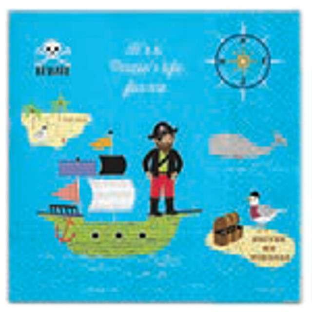 """Serwetki """"Szalony pirat"""", PAW, 33 cm, 20 szt."""
