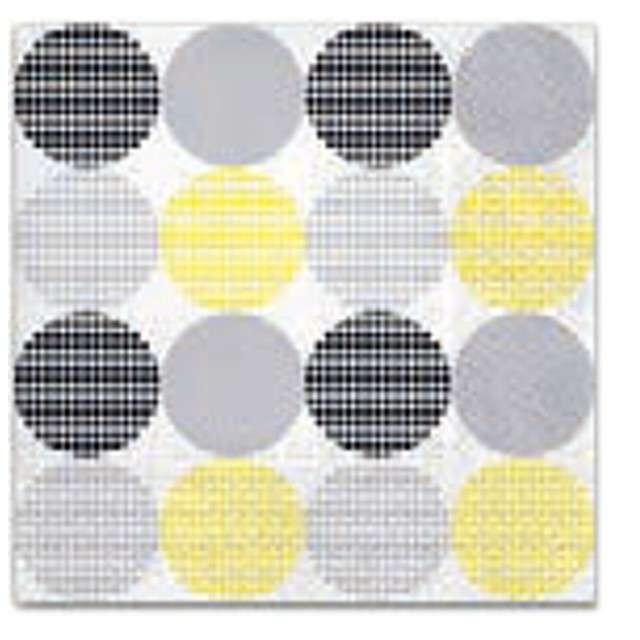 """Serwetki """"Kropki kropki"""", żółty, PAW, 33 cm, 20 szt."""