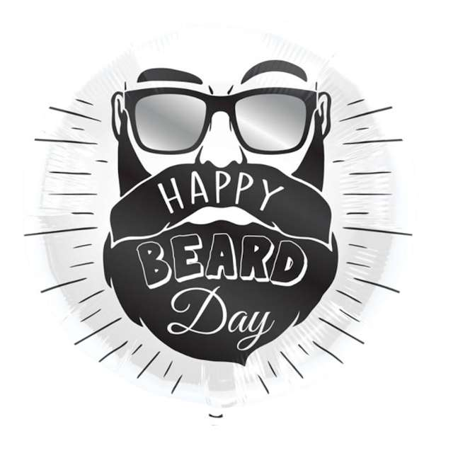 "Balon foliowy ""Happy Beard Day"", Folat, 18"" RND"