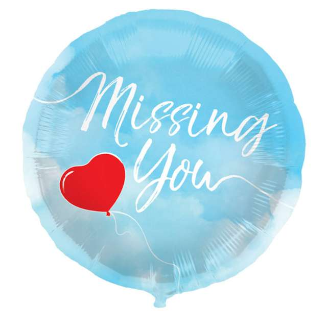 "Balon foliowy ""Missing You"", Folat, 18"" RND"