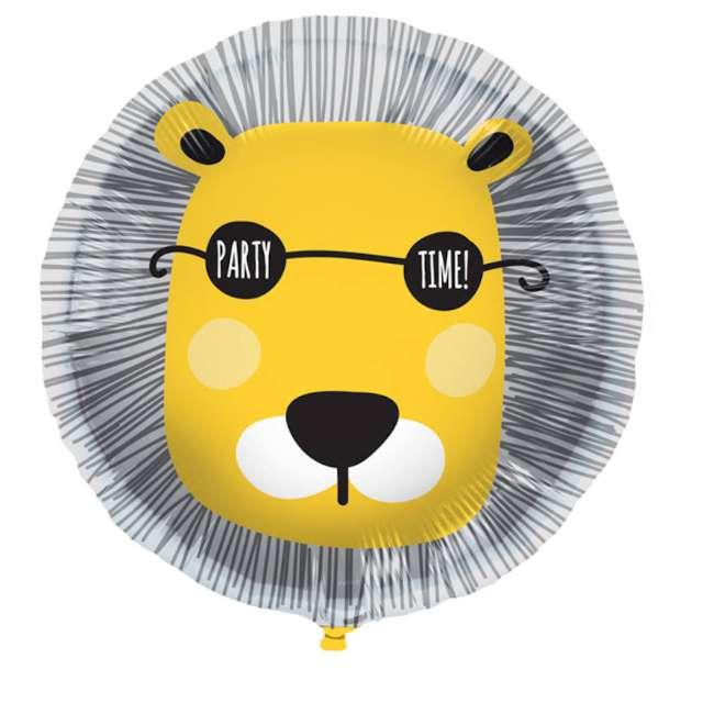 """Balon foliowy """"Imprezowy lew"""", Folat, 18"""" RND"""