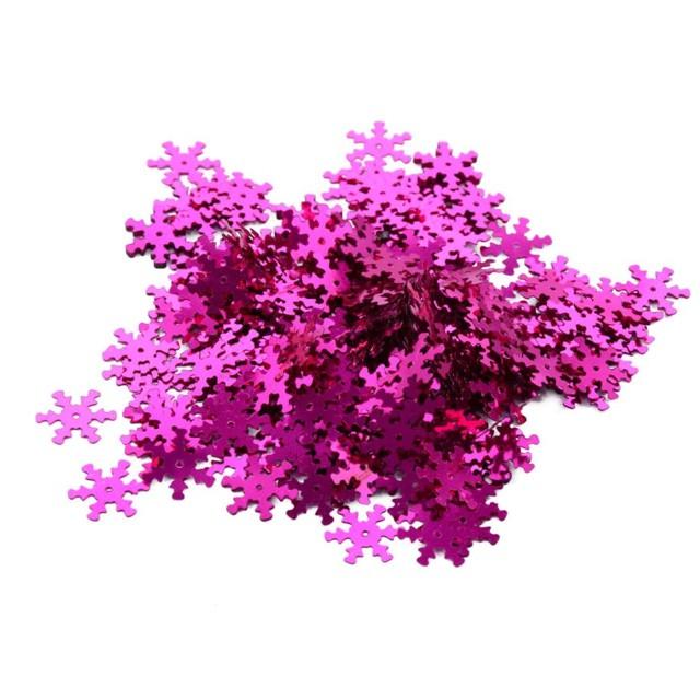 """Konfetti """"Śnieżynki"""", różowy , 15g"""