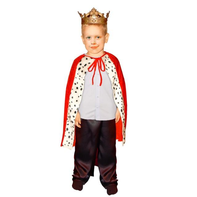 Strój dla dzieci Peleryna Króla czerwona rozm. 110-122 cm ARPEX