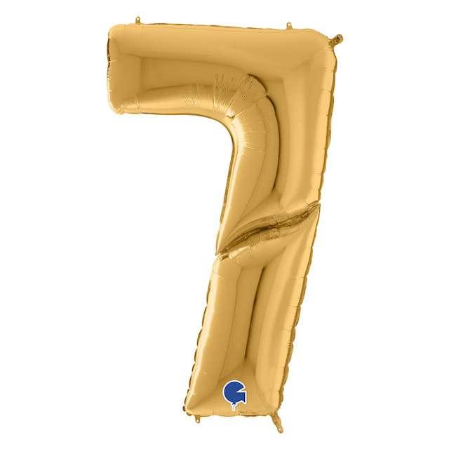 """Balon foliowy """"Cyfra 7"""", złoty, Grabo, 64"""", SHP"""