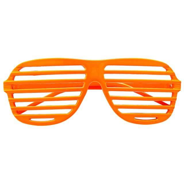 """Okulary party """"Disco"""", pomarańczowe, Widmann"""