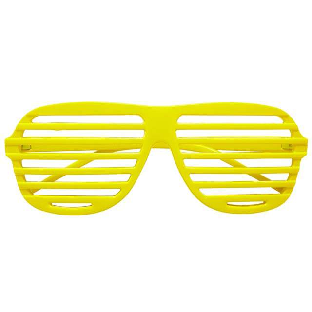 """Okulary party """"Disco"""", żółte, Widmann"""
