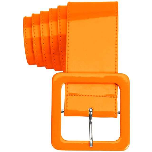 """Pasek party """"Neon"""", pomarańczowy, Widmann, 5,5 cm"""
