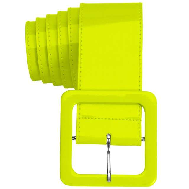 "Pasek party ""Neon"", żółty, Widmann, 5,5 cm"