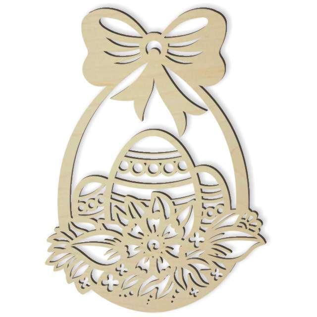 """Dekoracja drewniana dekor """"Wielkanocny koszyczek"""", 23x16 cm"""