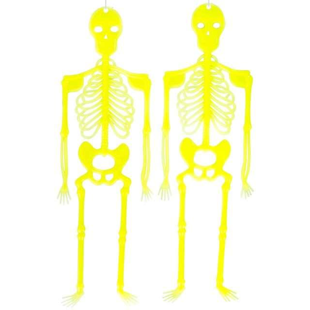 """Dekoracja wisząca """"Świecące szkielety"""", Carnival Toys, 33 cm"""