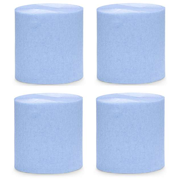 """Krepa dekoracyjna """"Slim Classic"""", błękit jasny, PartyDeco, 5x10m"""