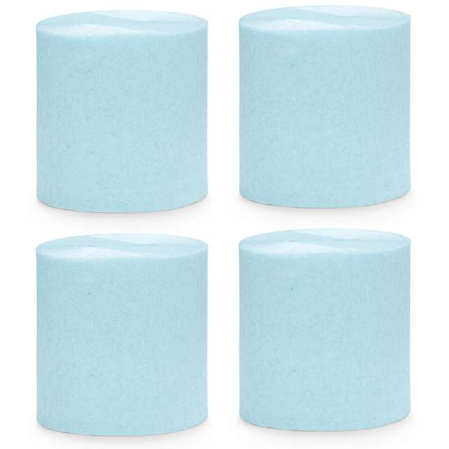 """Krepa dekoracyjna """"Slim Classic"""", niebieski jasny, PartyDeco, 5x10m"""