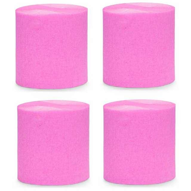 """Krepa dekoracyjna """"Slim Classic"""", różowa, PartyDeco, 5x10m"""