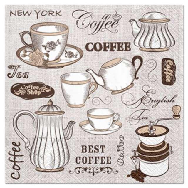 """Serwetki zapachowe """"Kawa czy herbata"""", PAW, 33 cm, 20 szt."""