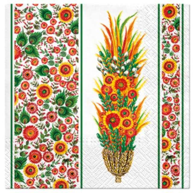"""Serwetki """"Wielkanocne Ludowa palma"""", PAW, 33 cm, 20 szt."""