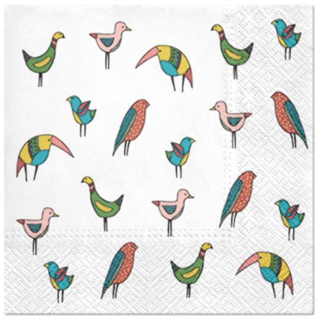 """Serwetki """"Ptaki kolorowe"""", PAW, 33 cm, 20 szt."""