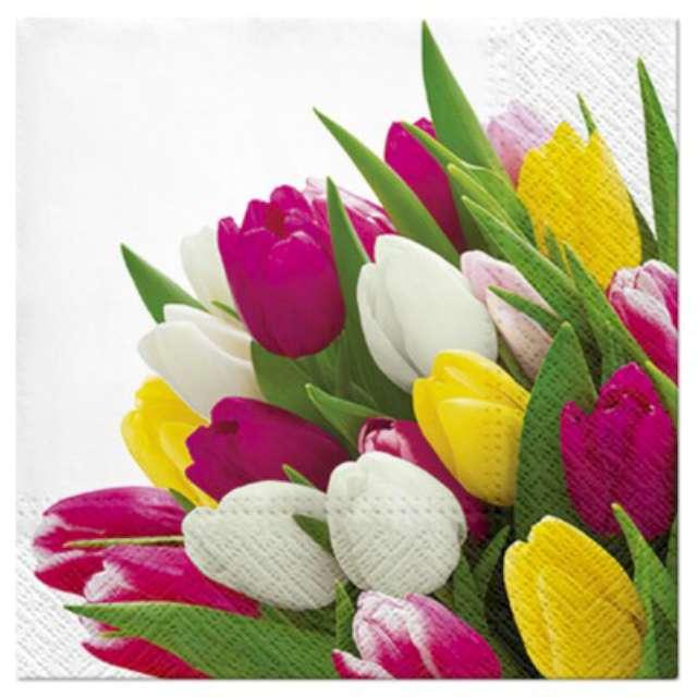 """Serwetki """"Tulipany kolorowe"""", PAW, 33 cm, 20 szt."""