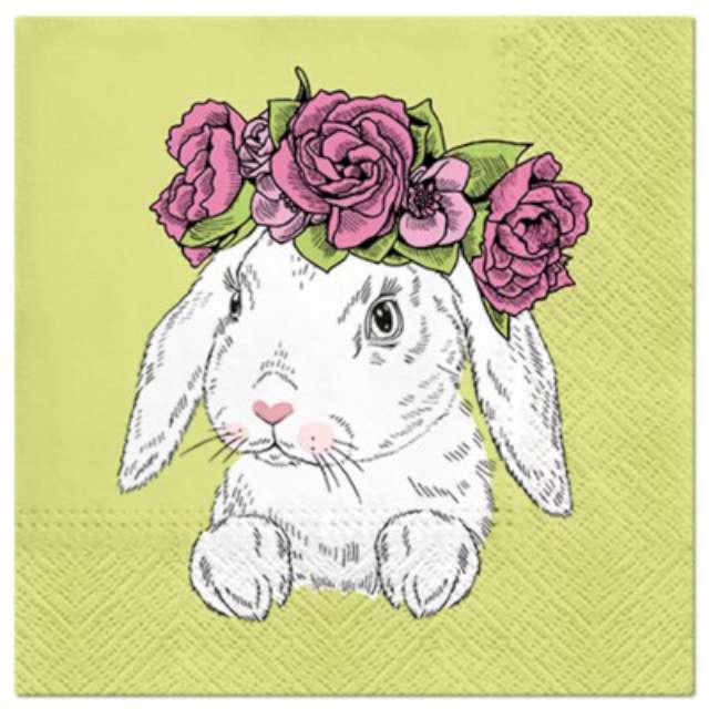 """Serwetki """"Wielkanocne Królik z wieńcem"""", PAW, 33 cm, 20 szt."""