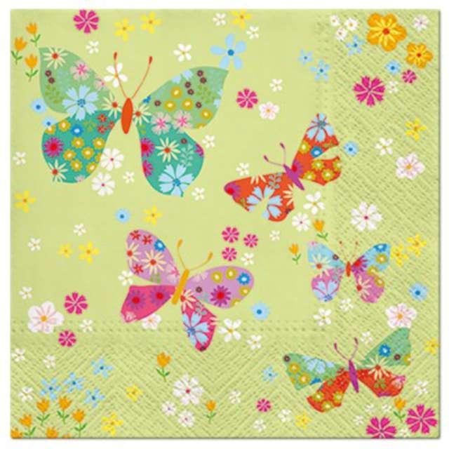 """Serwetki """"Motyle na łące"""", PAW, 33 cm, 20 szt."""
