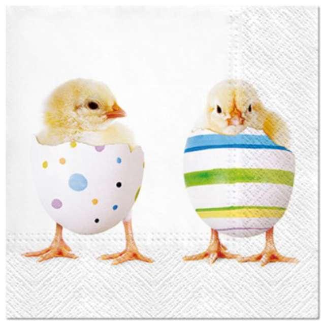 """Serwetki """"Wielkanocne Kurczaki w skorupkach"""", PAW, 33 cm, 20 szt."""