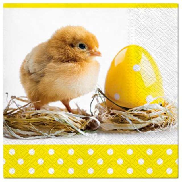 """Serwetki """"Wielkanocne Kurczak myślący"""", PAW, 33 cm, 20 szt."""