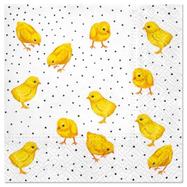 """Serwetki """"Wielkanocne Kurczaki dziobiące"""", PAW, 33 cm, 20 szt."""