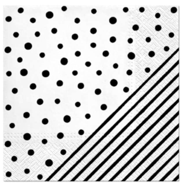 """Serwetki """"Kropki i paski"""", PAW, 33 cm, 20 szt."""