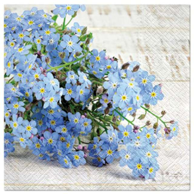 """Serwetki """"Kwiaty błękitne"""", PAW, 33 cm, 20 szt."""
