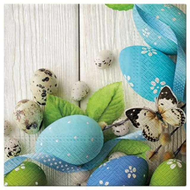 """Serwetki """"Wielkanocne Jajka błękitne"""", PAW, 33 cm, 20 szt."""