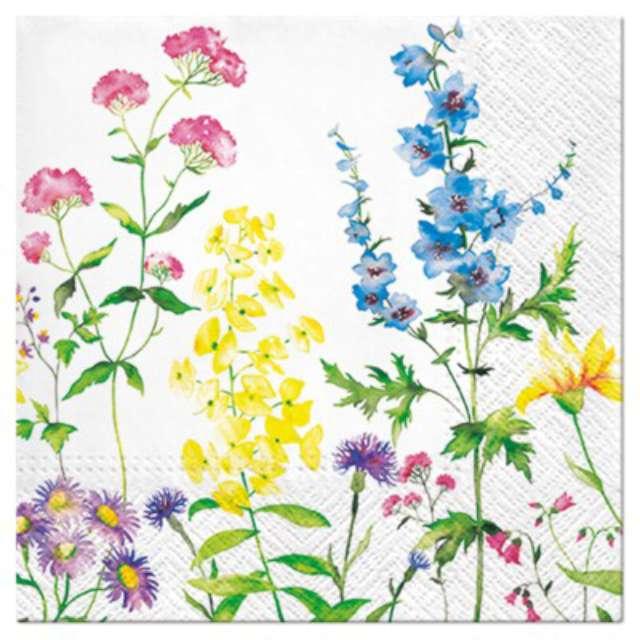 """Serwetki """"Kwiaty ogrodowe"""", PAW, 33 cm, 20 szt."""