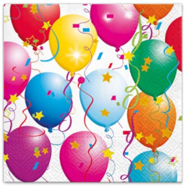 """Serwetki """"Kolorowe balony"""", PAW, 33 cm, 20 szt."""