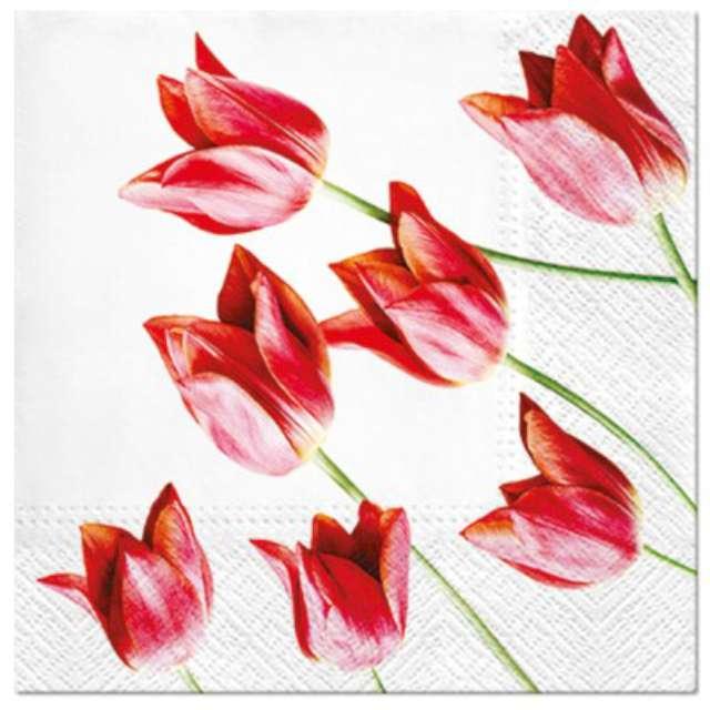 """Serwetki """"Tulipany czerwone"""", PAW, 33 cm, 20 szt."""