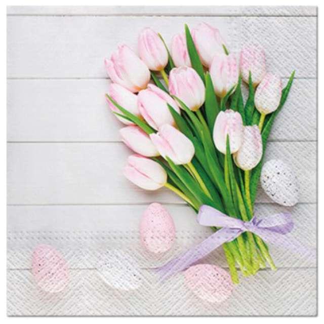 """Serwetki """"Tulipany różowe"""", PAW, 33 cm, 20 szt."""