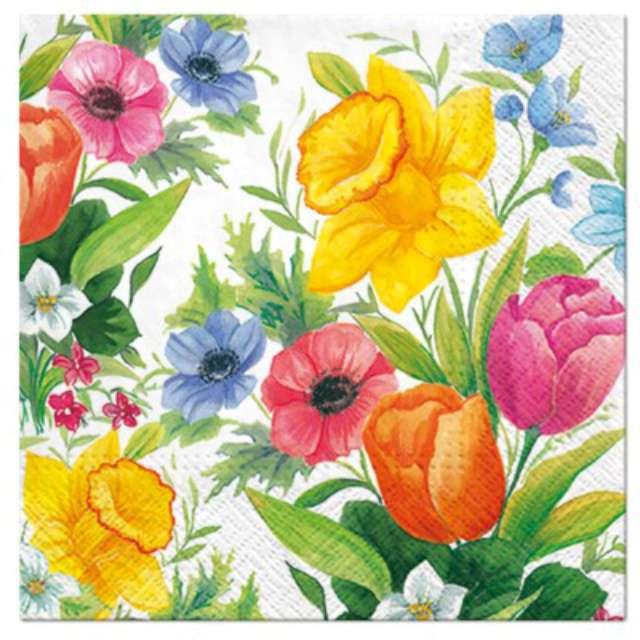 """Serwetki """"Kwiaty wiosenne"""", PAW, 33 cm, 20 szt."""