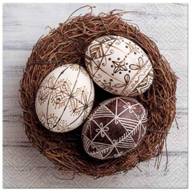 """Serwetki """"Wielkanocne Pisanki w gniazdku"""", PAW, 33 cm, 20 szt."""