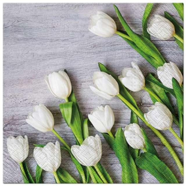 """Serwetki """"Tulipany białe"""", PAW, 33 cm, 20 szt."""