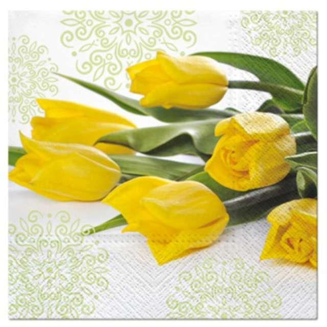"""Serwetki """"Tulipany żółte"""", PAW, 33 cm, 20 szt."""