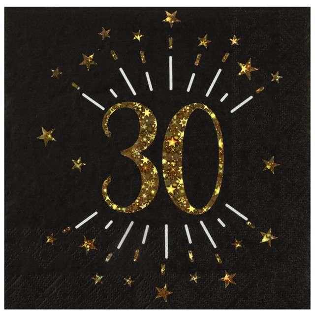 """Serwetki """"30 urodziny"""", SANTEX, 33 cm, 10 szt"""