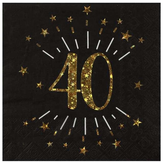 """Serwetki """"40 urodziny"""", SANTEX, 33 cm, 10 szt"""