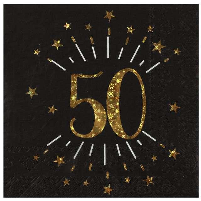 """Serwetki """"50 urodziny"""", SANTEX, 33 cm, 10 szt"""