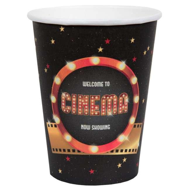 "Kubeczki papierowe ""Hollywood"", SANTEX, 250 ml, 10 szt"