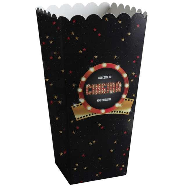 """Pudełka na popcorn """"Hollywood"""", czarny, SANTEX, 8 szt"""