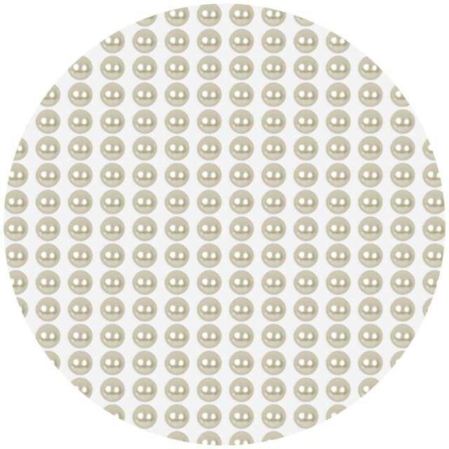 """Dżety samoprzylepne """"Perełki"""", kremowe, 4mm, 550 szt"""