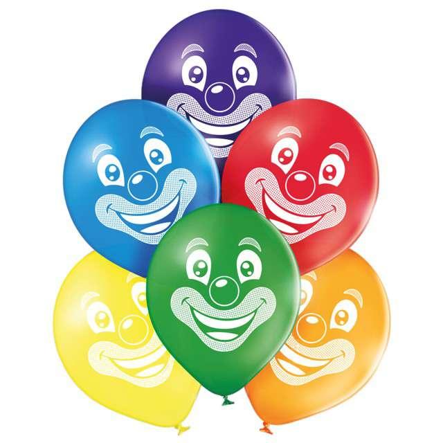"""Balony """"Uśmiech klauna"""", pastel mix, BELBAL, 10"""", 6 szt"""
